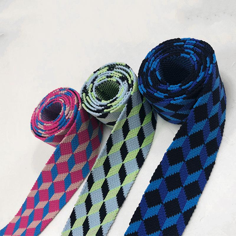 罗纹针织提花带